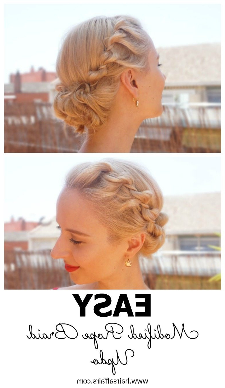 Most Recently Released Messy Rope Braid Updo Hairstyles With Easy Summer Hairstyle – Modified Rope Braid Updo – Hairsaffairs (View 17 of 20)