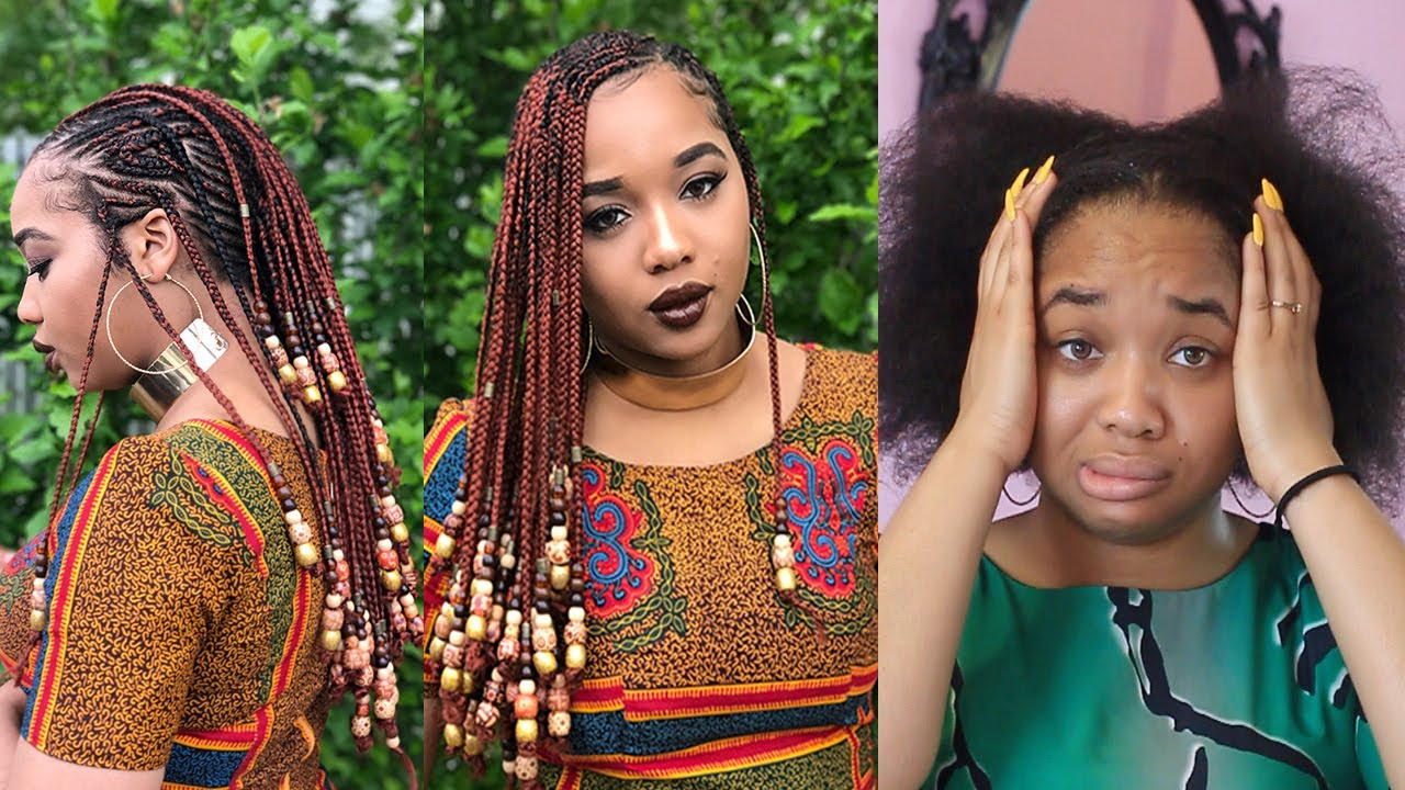 Most Recently Released Mohawk Braided Hairstyles With Beads Pertaining To Braids & Beads Tutorial (Mohawk Style) (View 14 of 20)