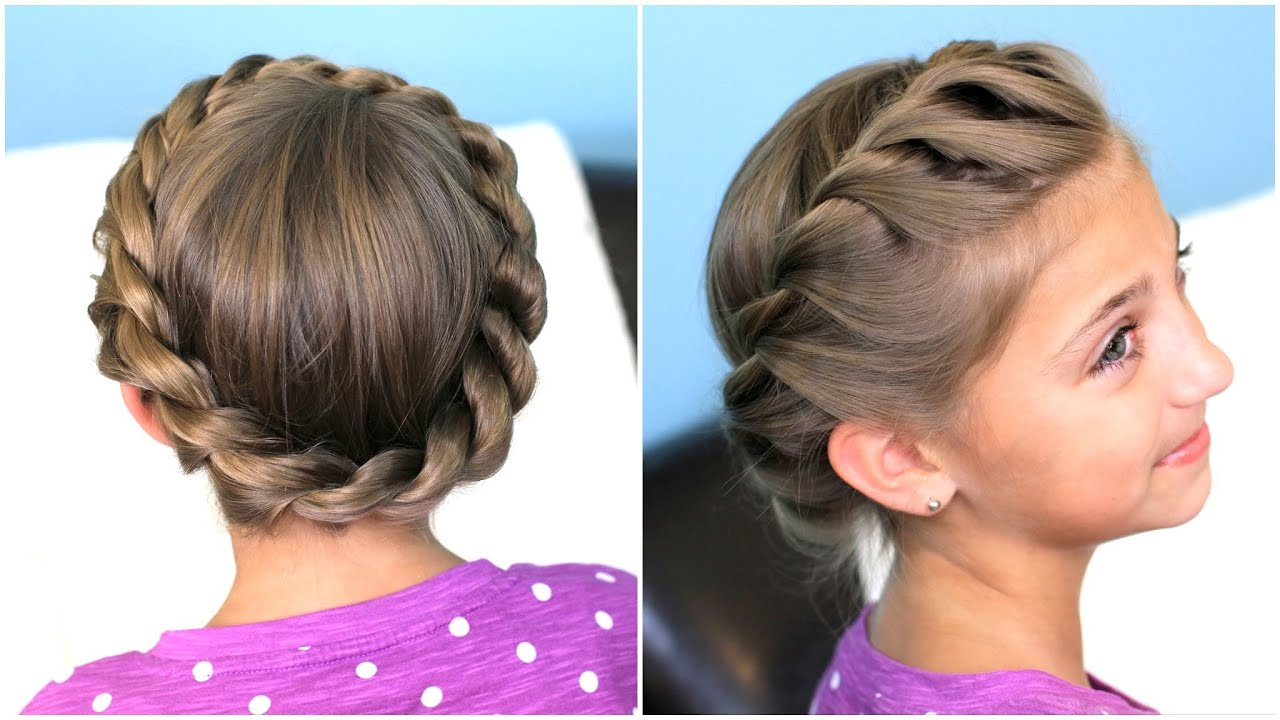 Most Recently Released Multi Braid Updo Hairstyles With How To Create A Crown Twist Braid (View 18 of 20)