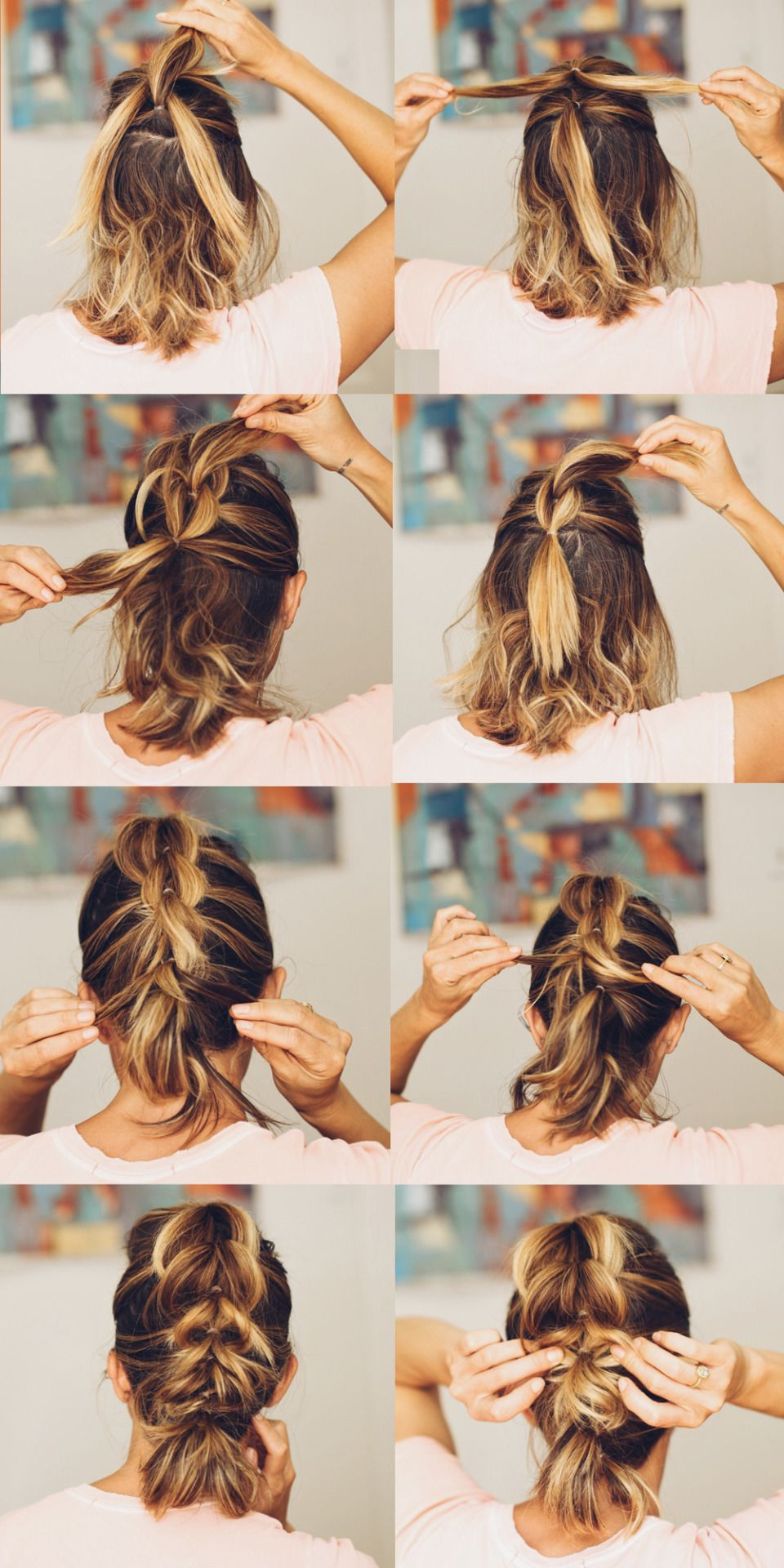 Most Recently Released Pull Through Ponytail Updo Hairstyles Pertaining To French Pull Through Braid. With A Lob (View 7 of 20)