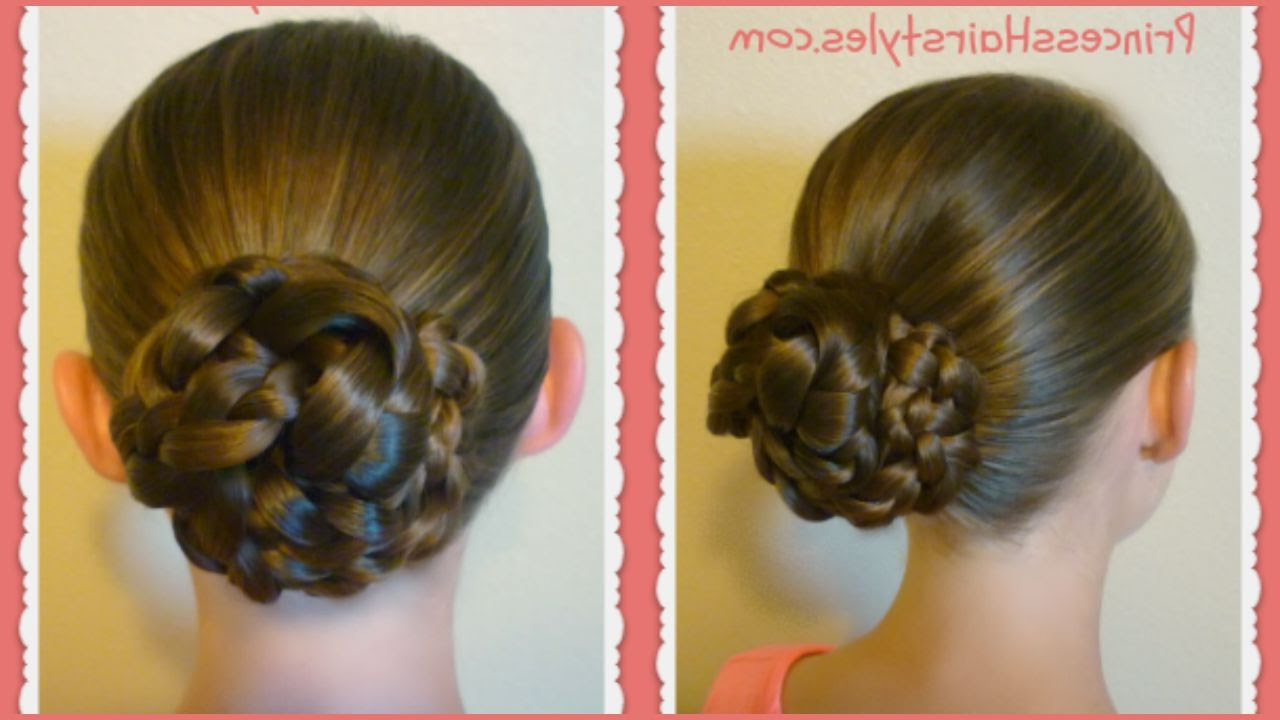 Most Recently Released Triple Under Braid Hairstyles With A Bun Intended For Easy Triple Braid Bun, Back To School Basic Hairstyles (View 2 of 20)