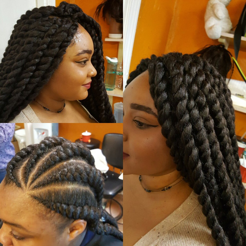 Most Up To Date Back And Forth Skinny Braided Hairstyles Intended For Rose African Hair Braiding – 2019 All You Need To Know (View 9 of 20)