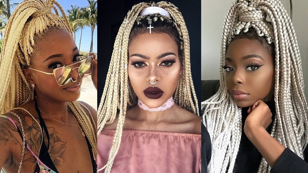 Most Up To Date Blonde Braid Hairstyles Regarding Hairstyles : African Braid Hairstyles Pictures Black For (View 16 of 20)