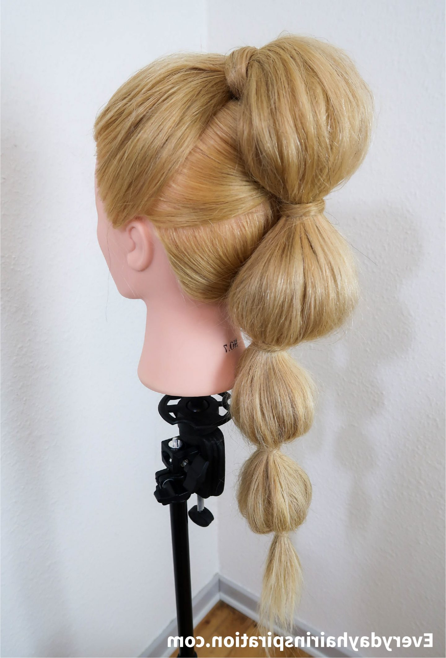 Most Up To Date Bubble Pony Updo Hairstyles Intended For Bubble Ponytail Stepstep – Everyday Hair Inspiration (View 13 of 20)