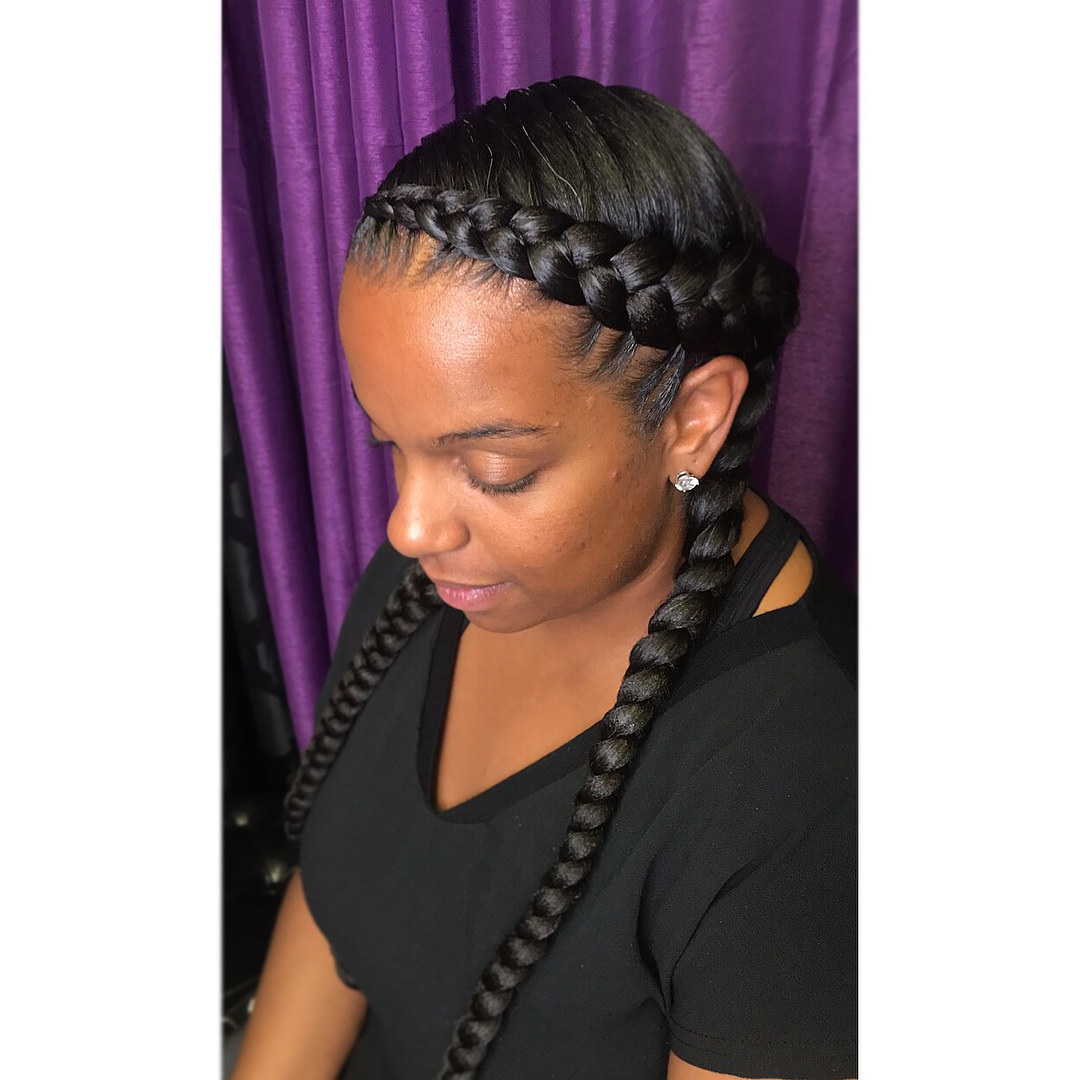 Most Up To Date Colorful Cornrows Under Braid Hairstyles Pertaining To 150 Cool Feed In Braids Ideas And Tips For The Summer (View 9 of 20)