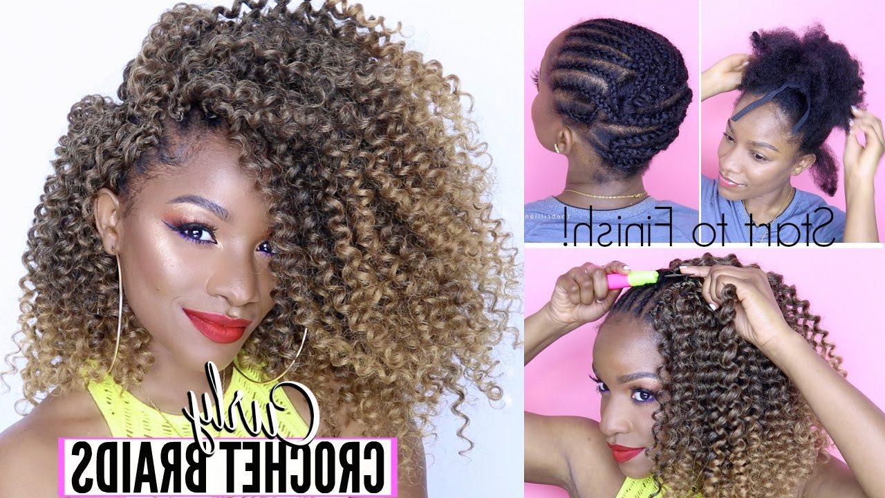 Most Up To Date Curly Crochet Micro Braid Hairstyles Inside How To: Curly Crochet Braids From Start To Finish! Under $ (View 6 of 20)