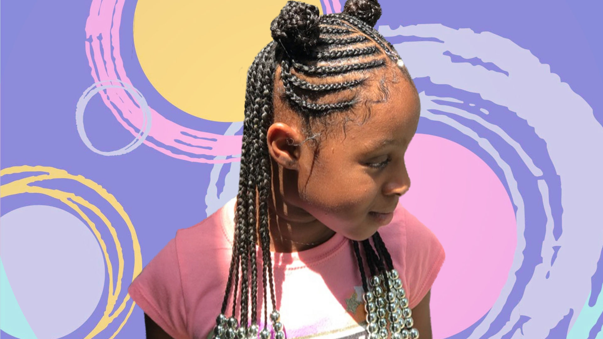 Most Up To Date Full Scalp Patterned Side Braided Hairstyles Regarding 15 Super Cute Protective Styles For Kids – Essence (View 16 of 20)