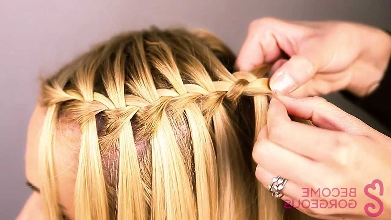 Most Up To Date High Waterfall Braided Hairstyles Throughout Waterfall Braid Tutorial – Become Gorgeous (View 17 of 20)