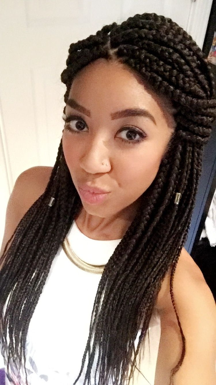 Most Up To Date Light Brown Braid Hairstyles Within Black And Dark Brown Box Braids – Best Menu Template Design (View 14 of 20)