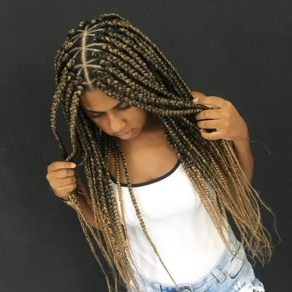 Most Up To Date Long Braids With Blue And Pink Yarn Within 16 Hot Lemonade Braids Inspiredbeyoncé (View 17 of 20)