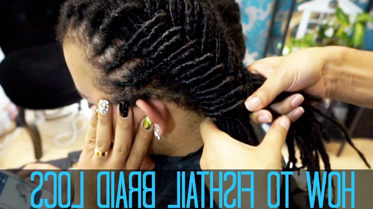 Most Up To Date Micro Braids In Side Fishtail Braid Pertaining To How To Do A Fishtail Braid On Locs (View 14 of 20)