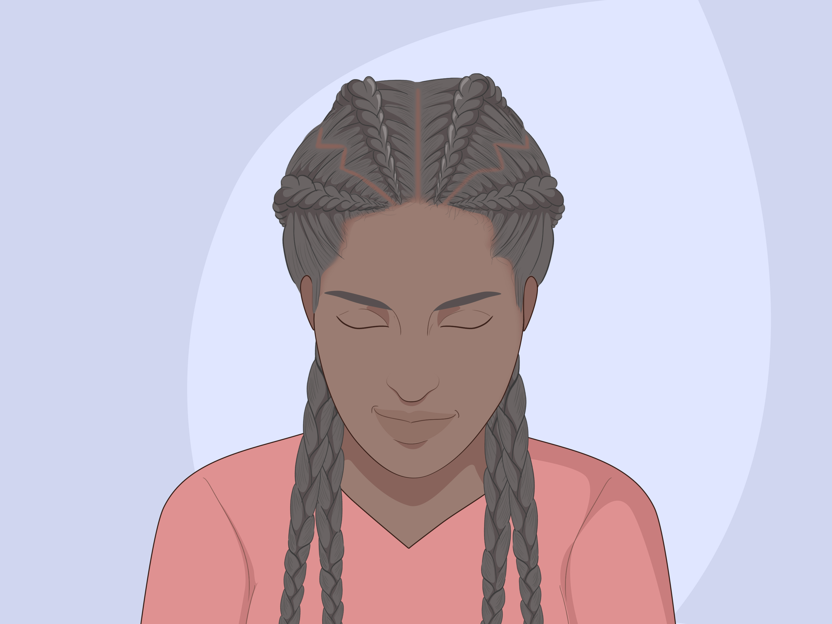 Most Up To Date Side Parted Loose Cornrows Braided Hairstyles Inside How To Braid Cornrows: 11 Steps (With Pictures) – Wikihow (View 16 of 20)