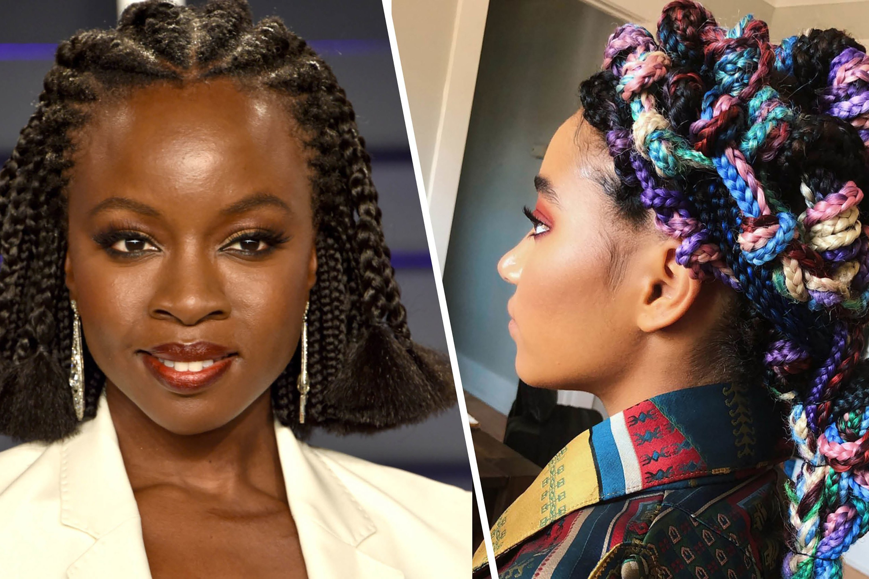 Most Up To Date Topknot Hairstyles With Mini Braid Throughout 21 Dope Box Braids Hairstyles To Try (View 12 of 20)