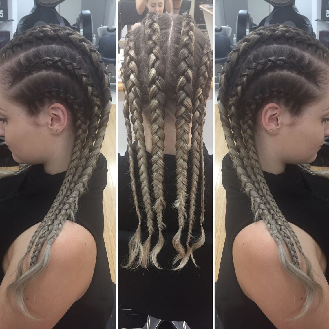 Mostly Braids Inside Most Popular Tight Braided Hairstyles With Headband (View 8 of 20)