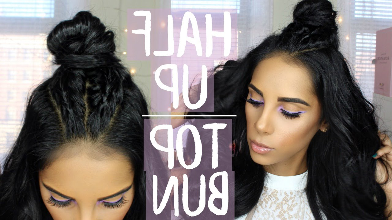 Nathalie Munoz Throughout Well Known Half Up Top Knot Braid Hairstyles (View 10 of 20)