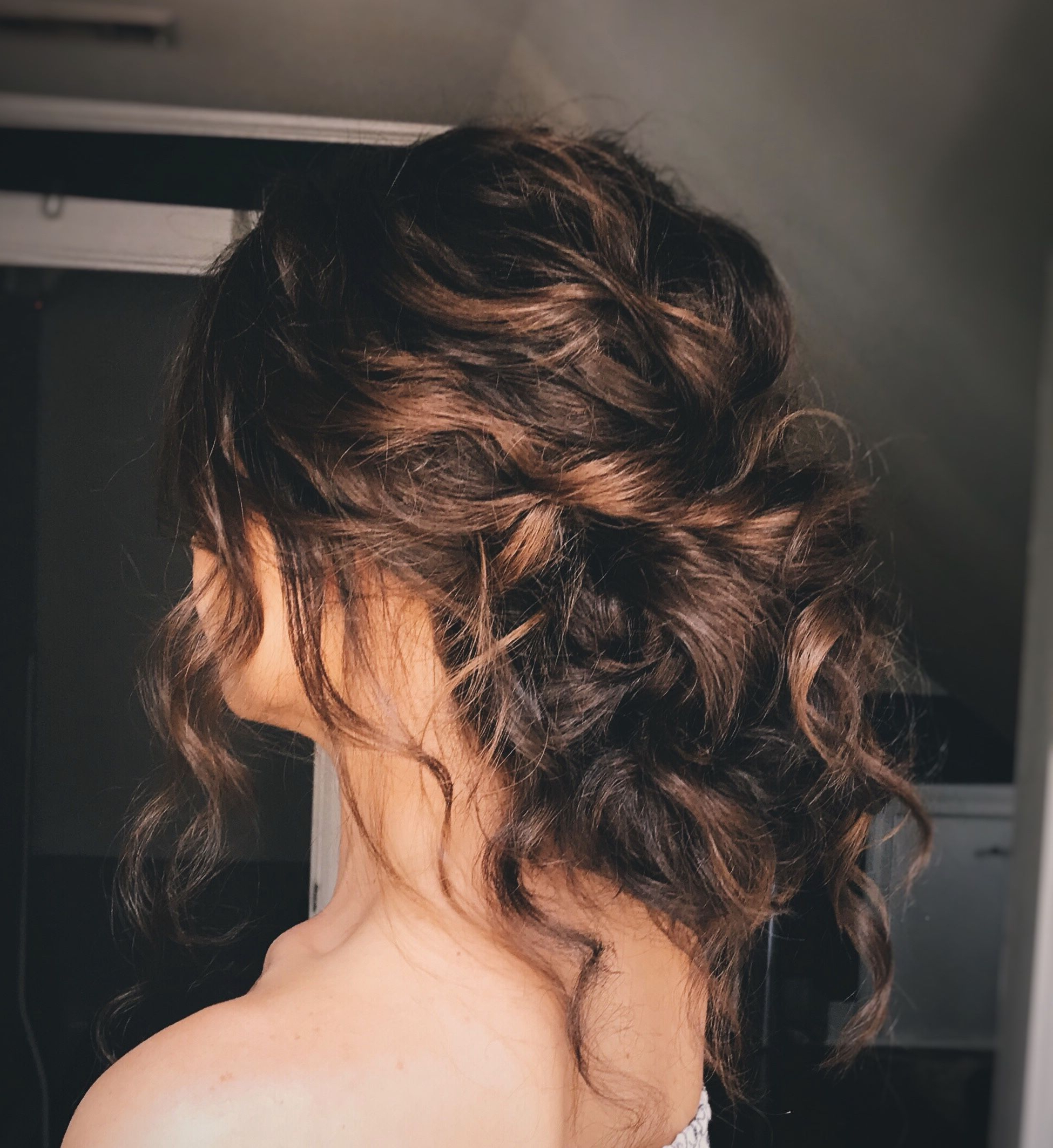 Natrually Curly Updo, Curly Hair, Textured Updo, Bridal Hair In Famous Naturally Textured Updo Hairstyles (View 3 of 20)
