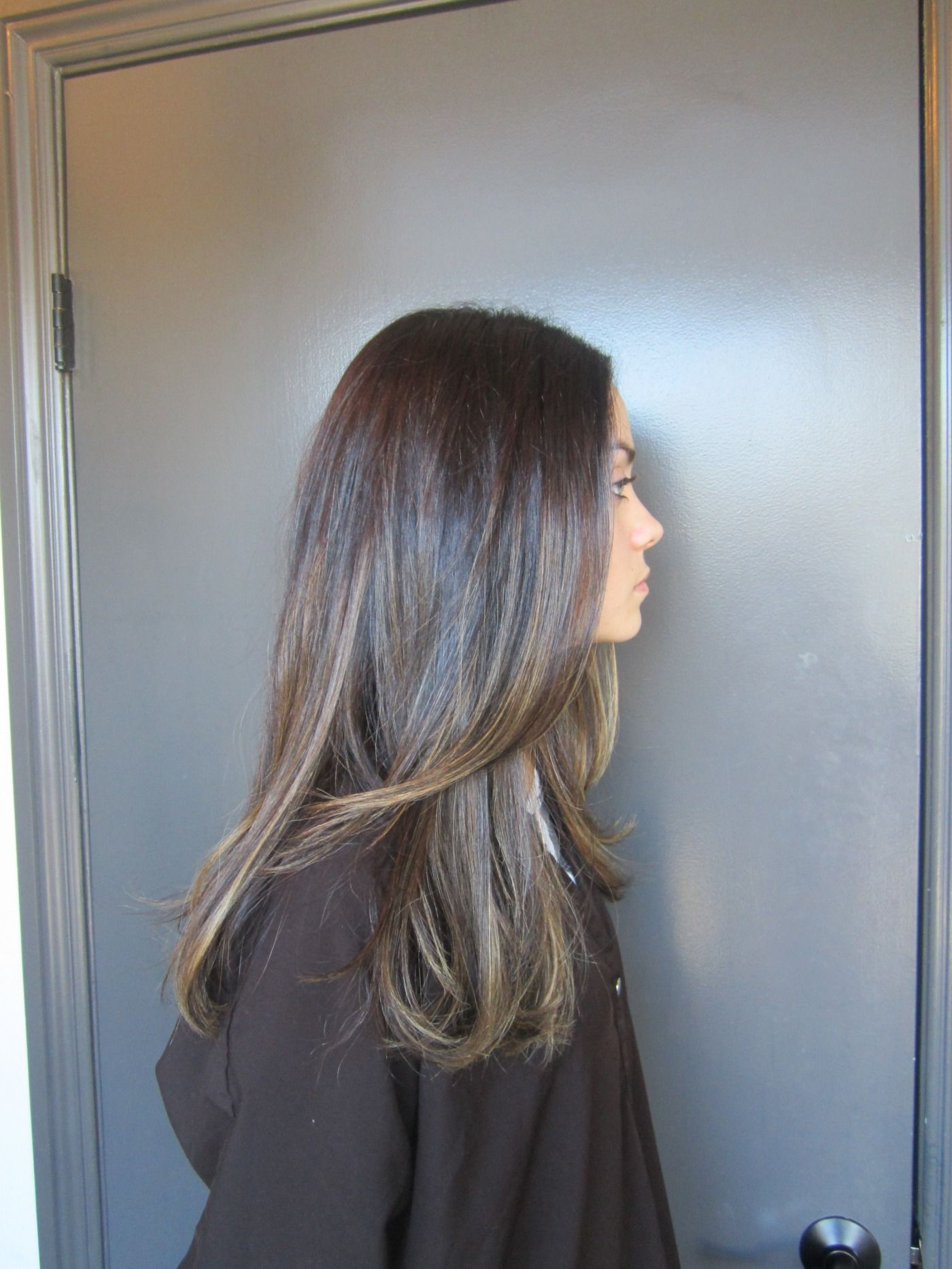 Natural Brown Hair With Tiny Highlights (View 14 of 20)