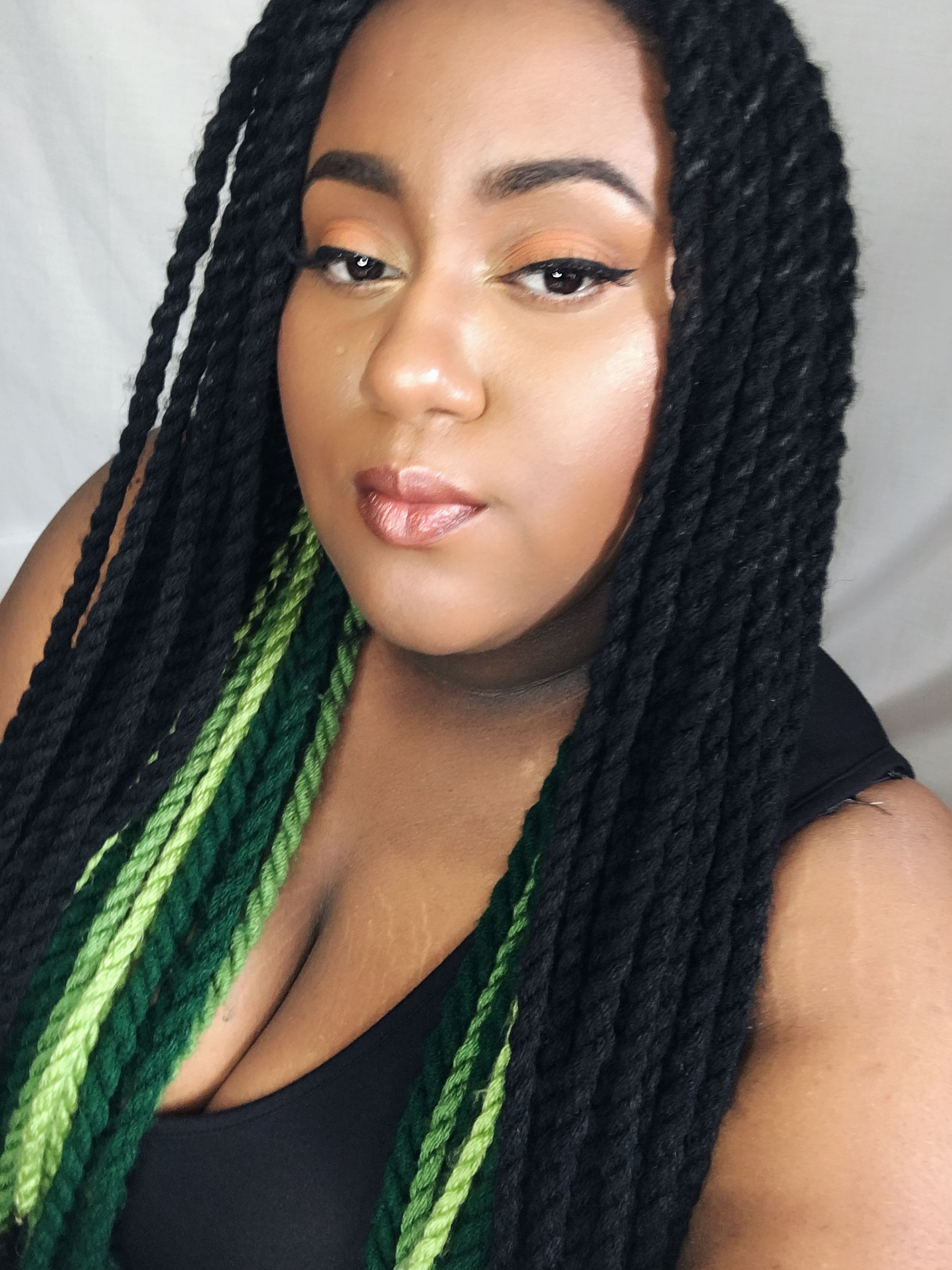 Featured Photo of Long Black Yarn Twists Hairstyles