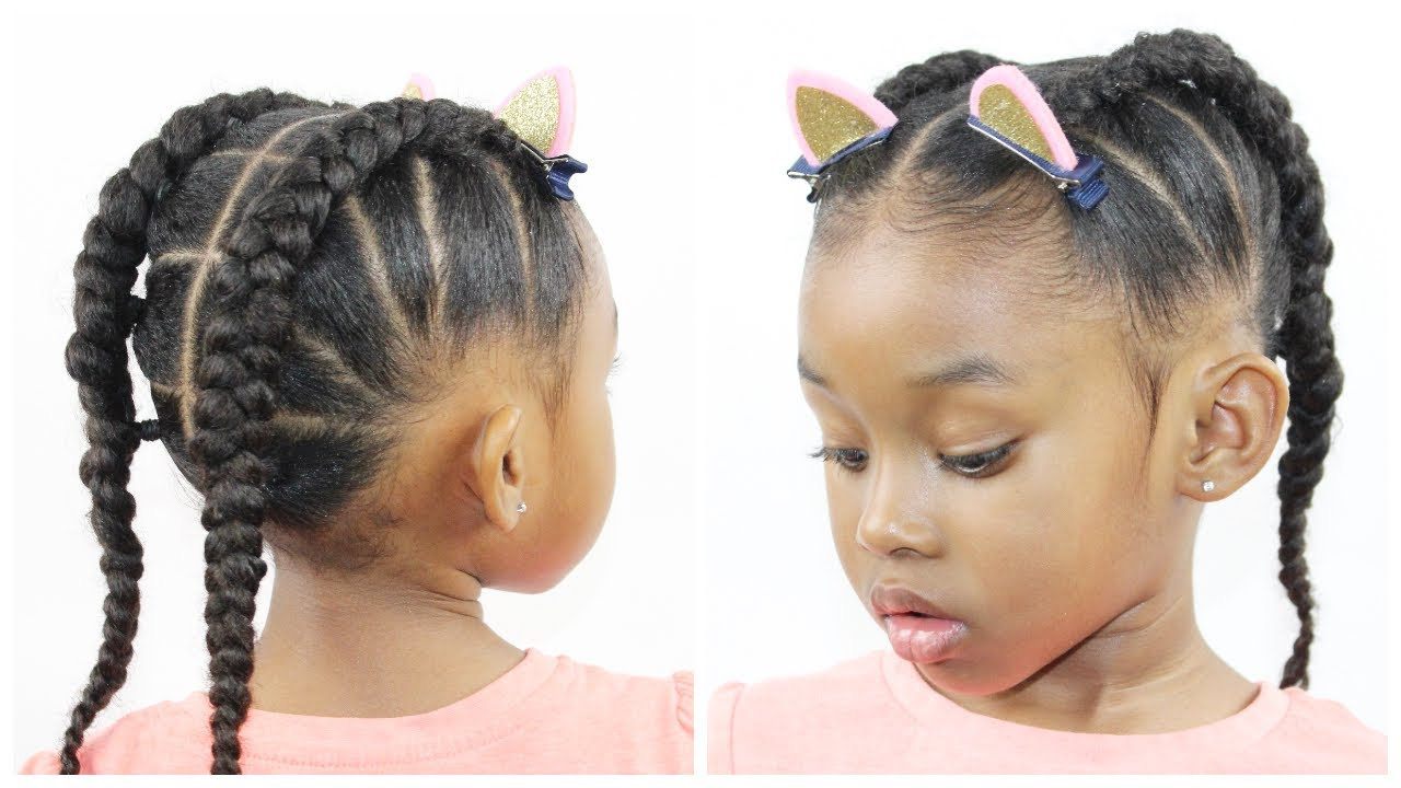 Natural Hairstyle With Regard To Most Current Cornrow Braids Hairstyles With Ponytail (View 18 of 20)