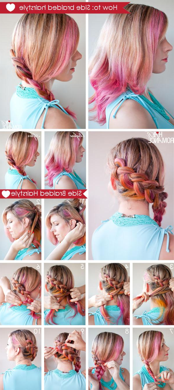 New Short Hair Styles: How To Make Side Braided Hairstyle Intended For Most Popular Asymmetrical French Braided Hairstyles (View 13 of 20)