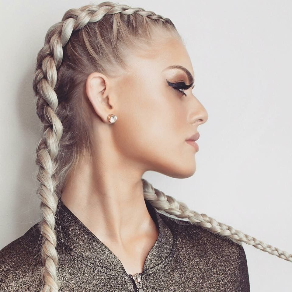 Newest Blonde Asymmetrical Pigtails Braid Hairstyles Pertaining To Hotloxs Hair Extensions. Ash Blonde (View 2 of 20)