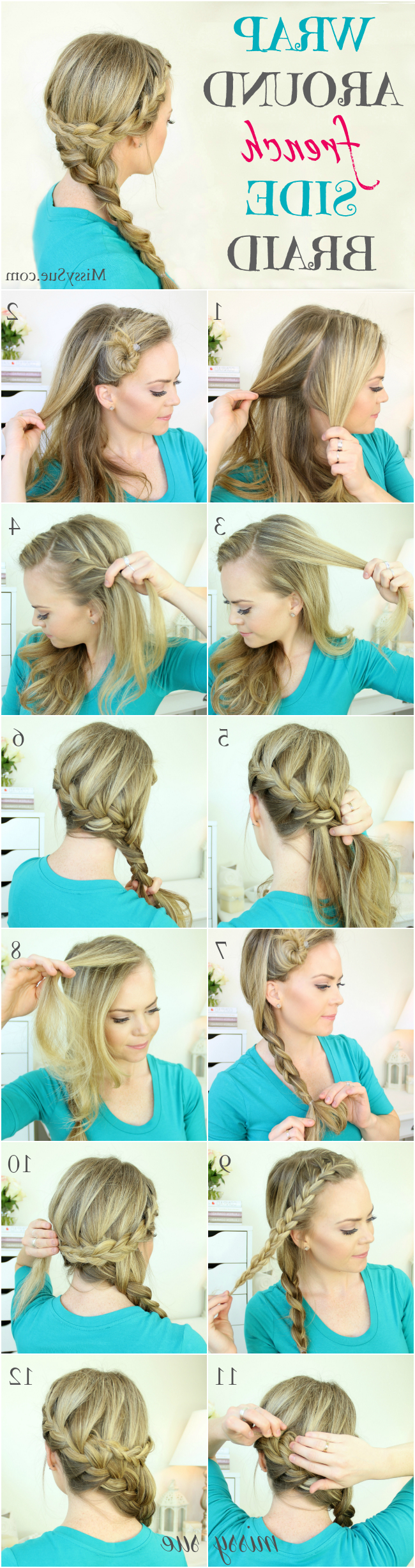 Newest Braided And Wrapped Hairstyles Pertaining To Wrap Around French Side Braid (View 14 of 20)