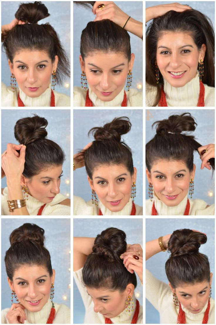 Newest Bubble Pony Updo Hairstyles With Regard To Fan Bun Bubble Bun – Cute Bun – Bun Hairstyle Fun Bun (View 14 of 20)