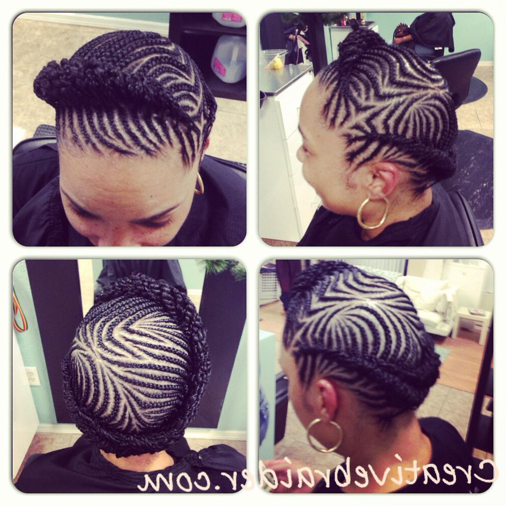 Newest Crown Cornrow Braided Hairstyles Inside Great Protective Hairstyle #naturalhair #cornrows (View 3 of 20)