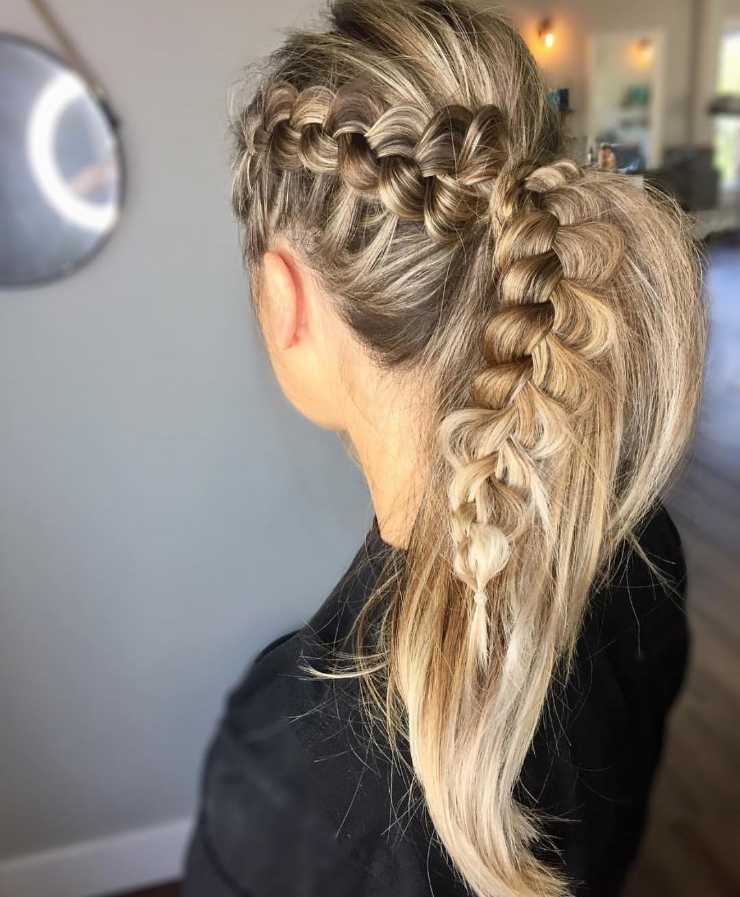 Newest Curvy Braid Hairstyles And Long Tails In 10 Ultra Ponytail Braided Hairstyles For Long Hair; Parties (View 4 of 20)