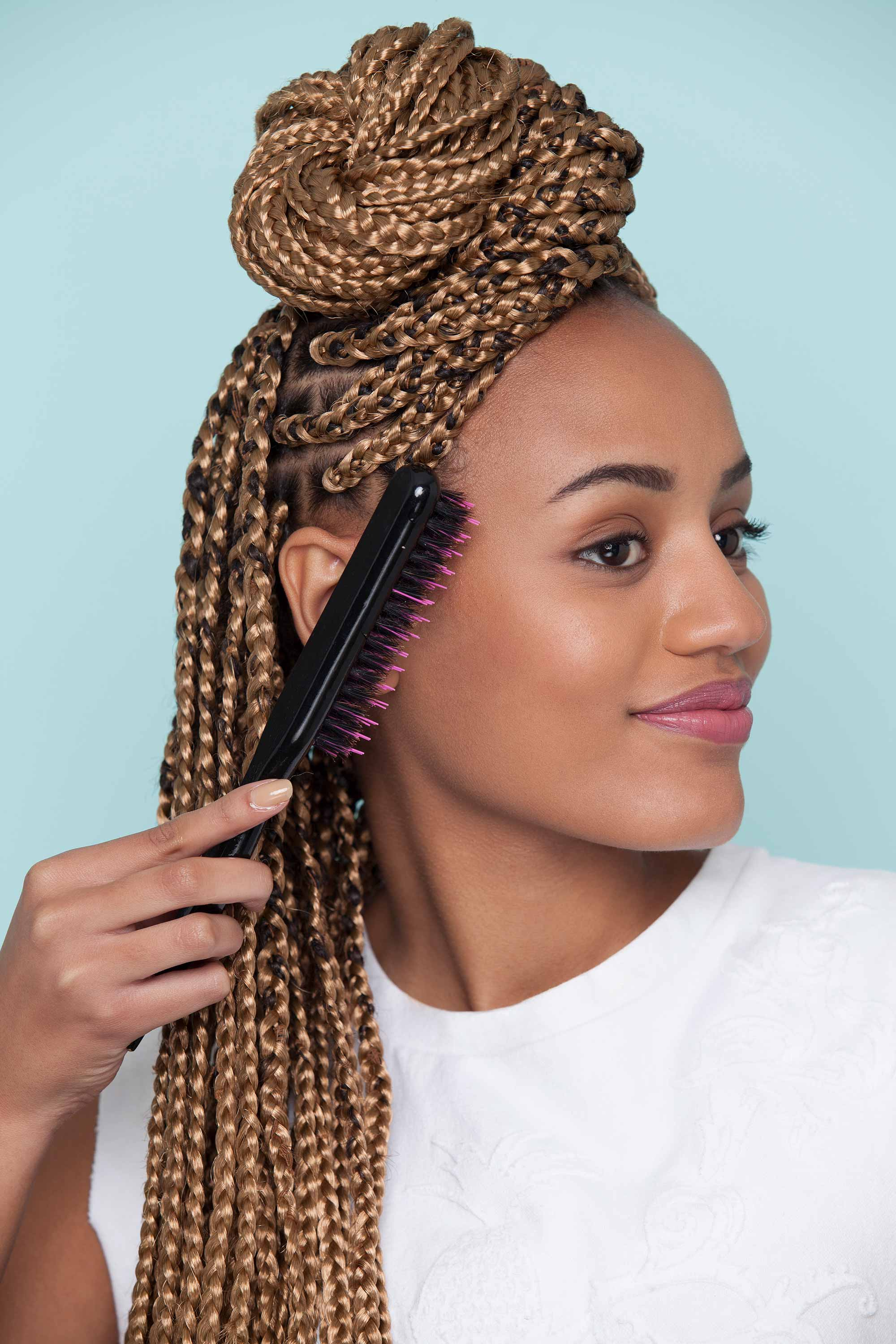 Newest Dookie Braid Bump Hairstyles Inside Hairstyles : 10 Supercute Styles With Box Braids To Wear Now (View 17 of 20)
