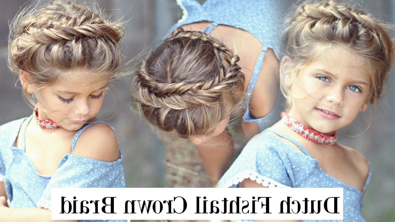 Newest Fishtail Crown Braided Hairstyles In Tutorial (View 11 of 20)