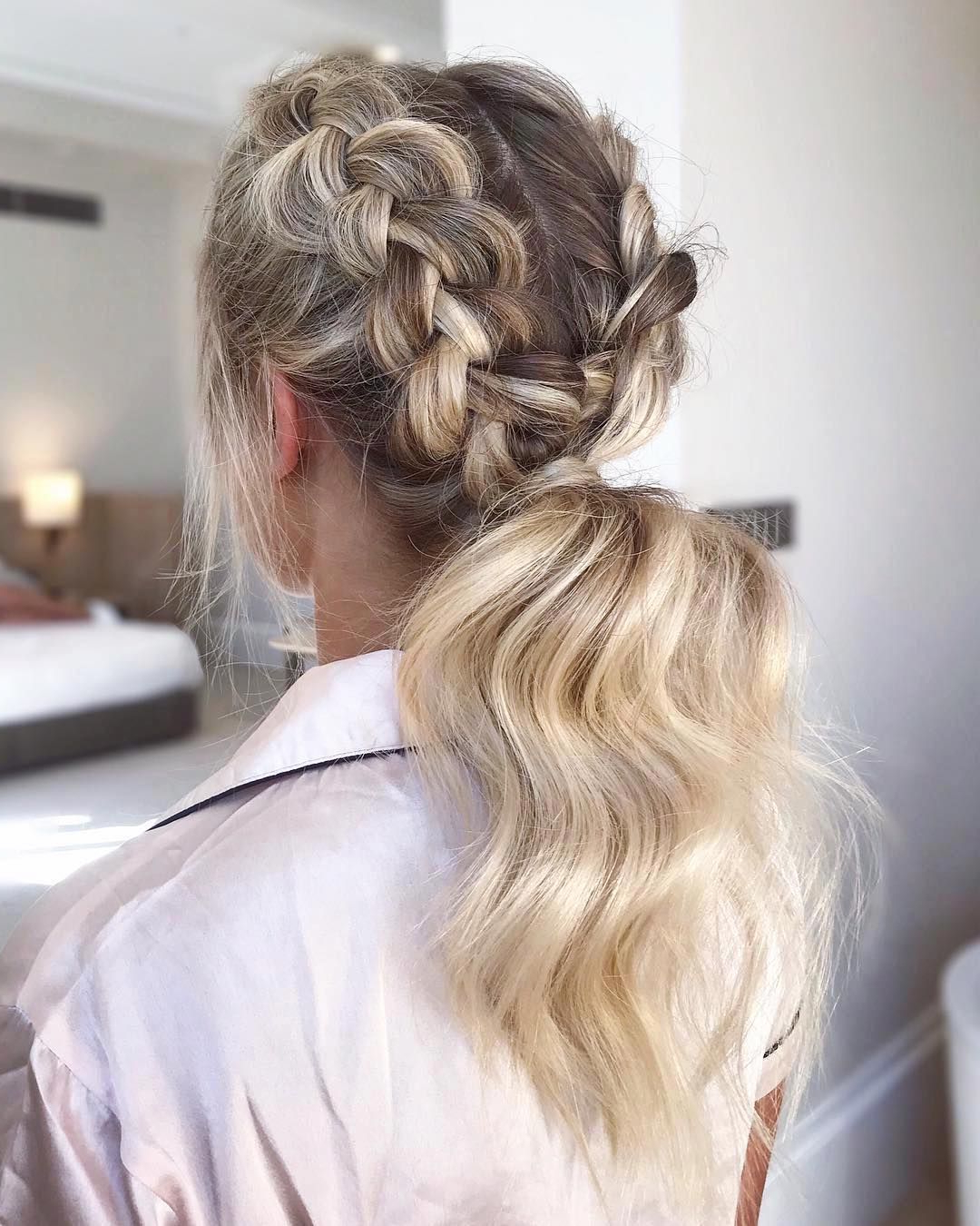 Newest Intricate Rope Braid Ponytail Hairstyles Throughout Gorgeous Ponytail Hairstyle Ideas That Will Leave You In Fab (View 17 of 20)