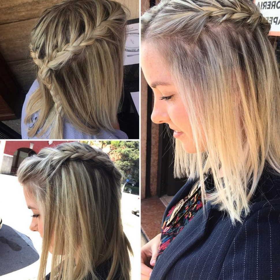 Newest Layered Bob Braid Hairstyles Within Hair Color : Braided Hairstyle Ideas For Balayage Ombra (View 10 of 20)
