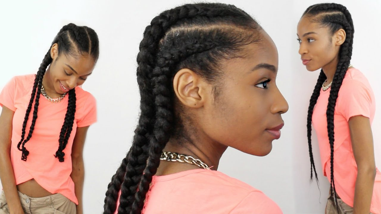Newest Long And Big Cornrows Under Braid Hairstyles Intended For 4 Feed In Braids On Natural Hair► Natural Hair Protective Styles (View 17 of 20)