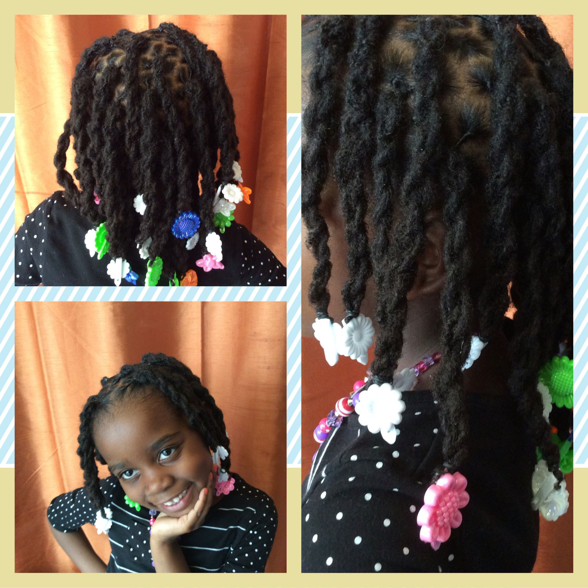 Newest Micro Twist Ponytail Hairstyles Within Kids Locs In Twisted Ponytails With Barrettes (View 7 of 20)