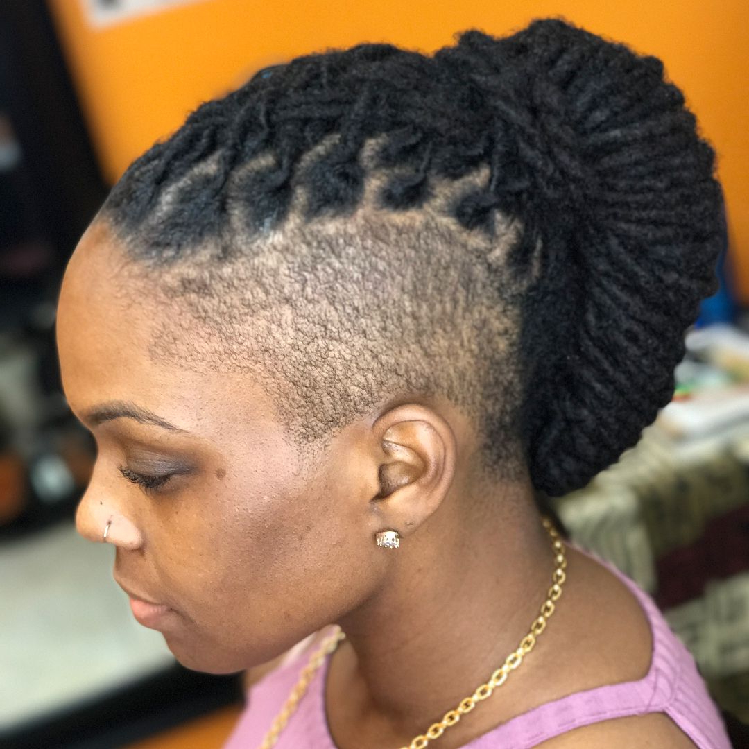 Newest Mohawk Braid Hairstyles With Extensions Pertaining To Longlivelocs #locs #locenvy #locsilove #locstyles (View 16 of 20)