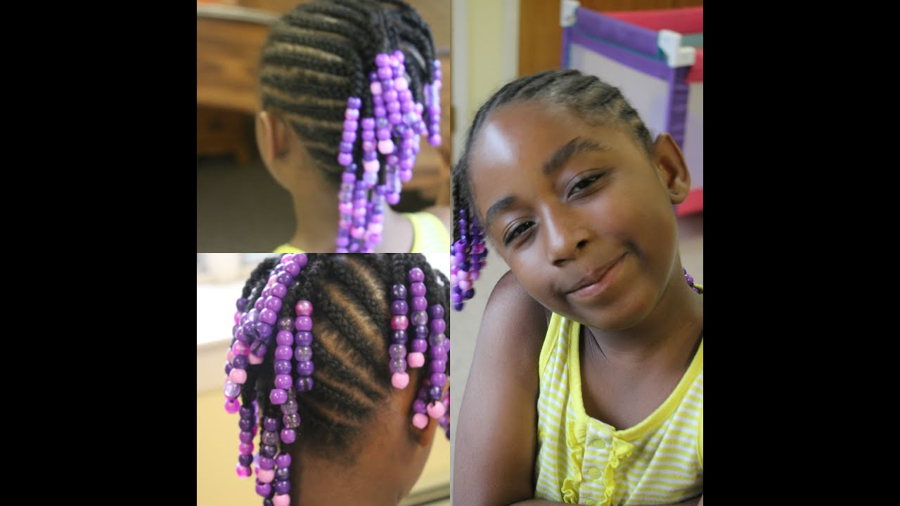 Newest Mohawk Braided Hairstyles With Beads With Kids Edition Side Mohawk Braids With Beads (watch Me Work ) (View 11 of 20)