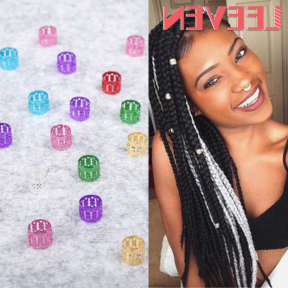 Newest Multicolored Extension Braid Hairstyles Within 200pcs/lot Wholesale Price Adjustable Hair Braid Cuff Clip Hair Golden Silver Colorful Dreadlock Bead Fashion Diy Styling Tools (View 17 of 20)