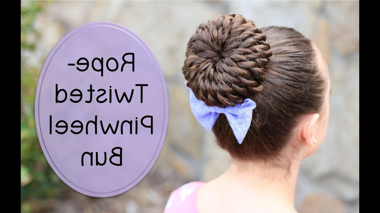 Newest Rope Twist Updo Hairstyles With Accessories Within Rope Twisted Pinwheel Bun (View 6 of 20)