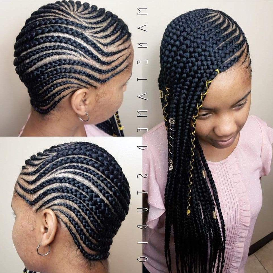 Newest Side Cornrows Braided Hairstyles For Medium Lemonade Braids. Lemonades. Lemonade Braids (View 3 of 20)
