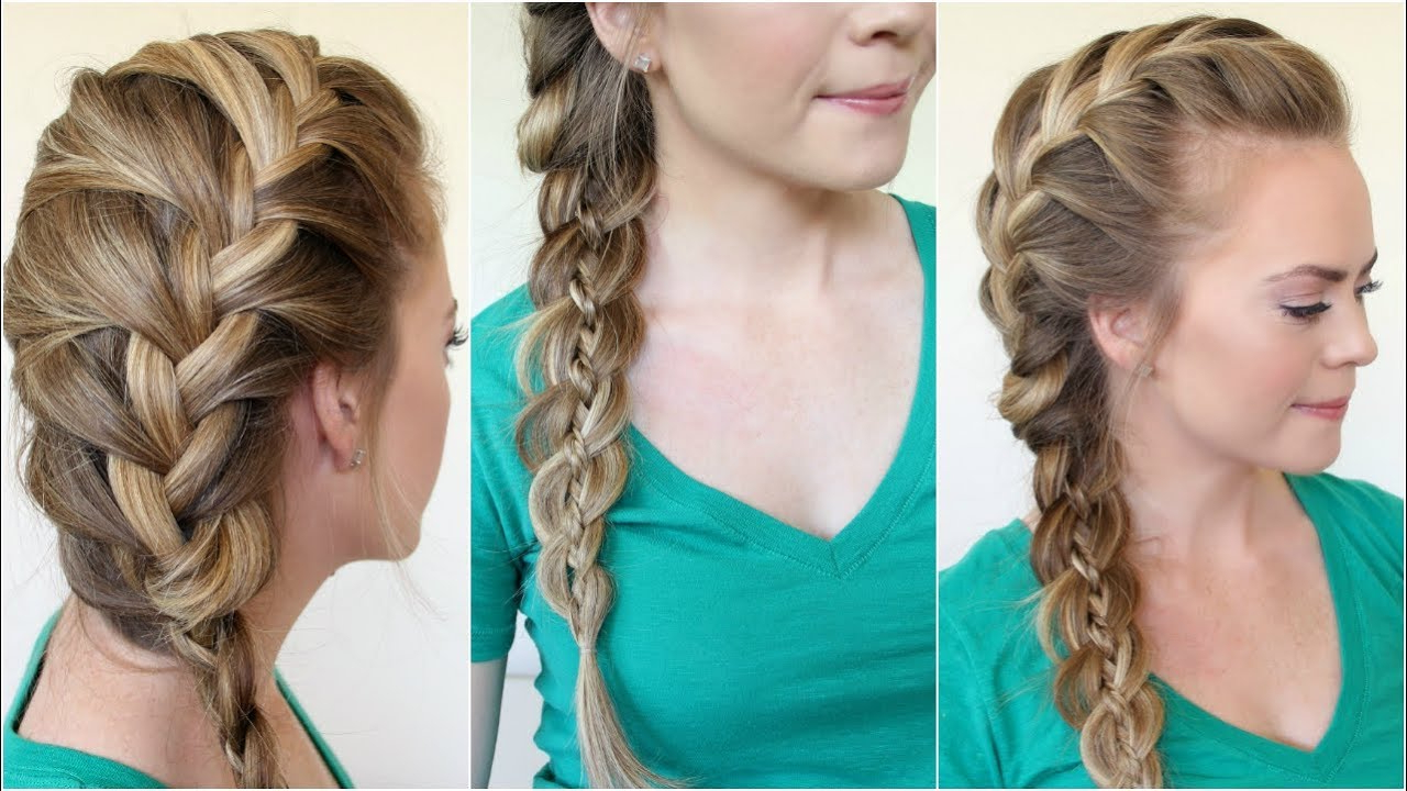 Newest Side Swept Carousel Braided Hairstyles Regarding 4 Ways To Side Braid Hair – Wikihow (View 14 of 20)