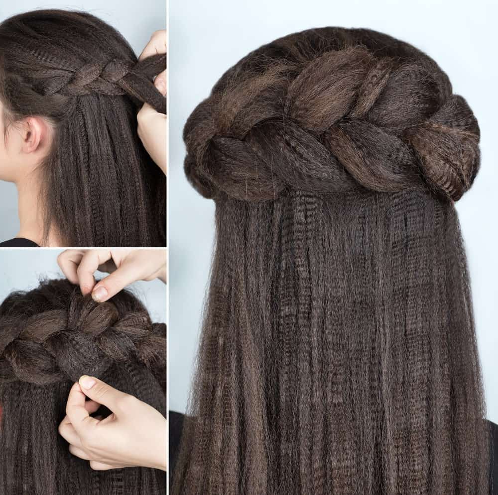 Newest Skinny Yarn Braid Hairstyles In A Half Updo Pertaining To 101 Half Up Half Down Hairstyles For Women (Photos) (View 20 of 20)