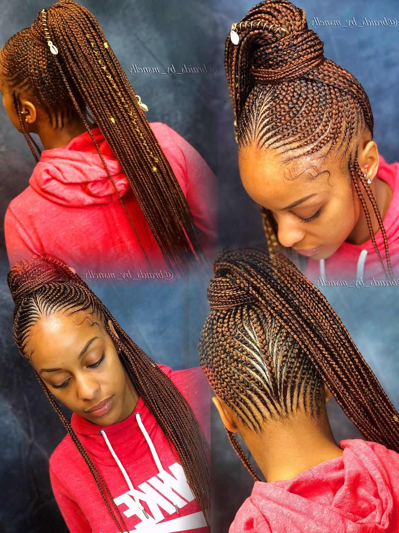 Newest Spiral Under Braid Hairstyles With A Straight Ponytail With Pin On Braidsms (View 13 of 20)