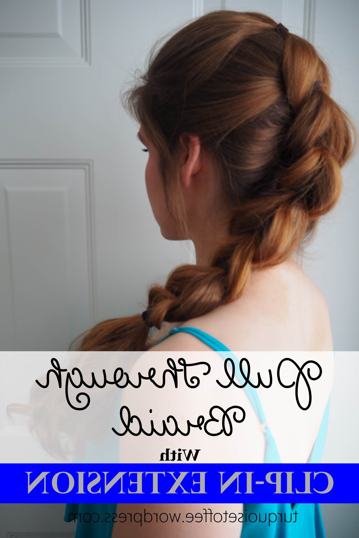 Newest Thick And Luscious Braid Hairstyles Intended For Pull Through Braid With Clip In Extension Tutorial (View 15 of 20)