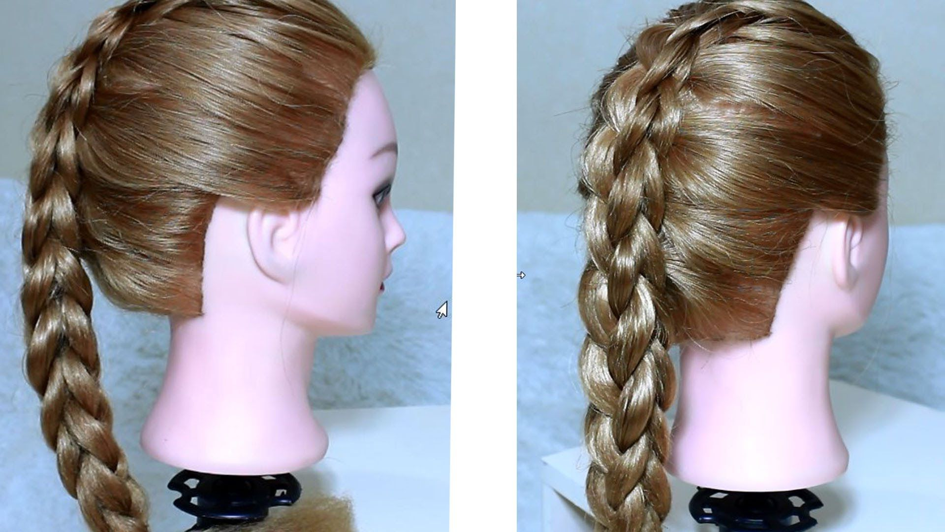 Newest Three Strand Long Side Braided Hairstyles In Box (Four Sided) French Braid / 3  Strand 3D Braid Tutorial (View 14 of 20)