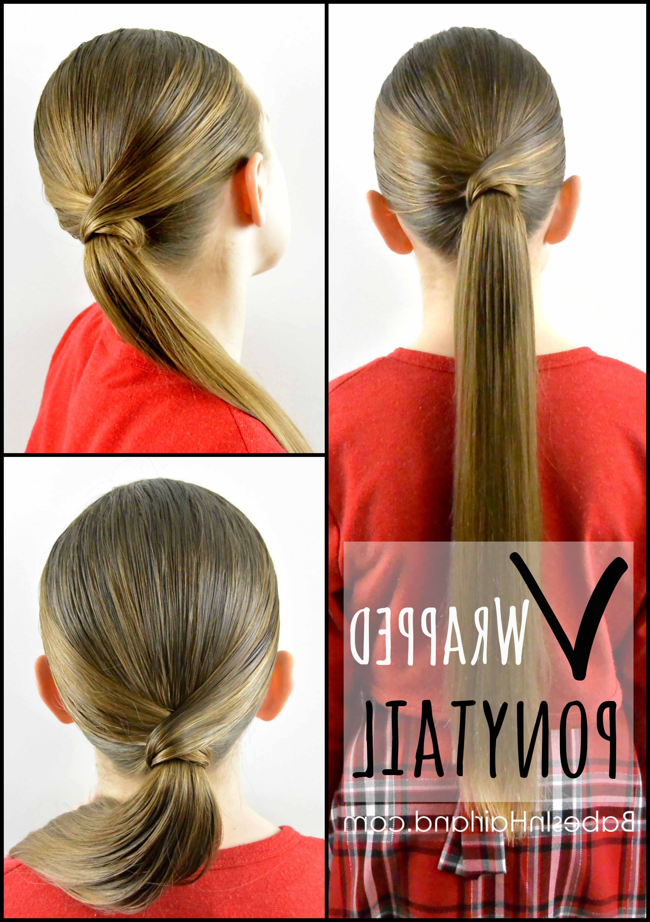 Newest Wrapped Ponytail Hairstyles In V Wrapped Ponytail From Babesinhairland #ponytail #hair (View 10 of 20)