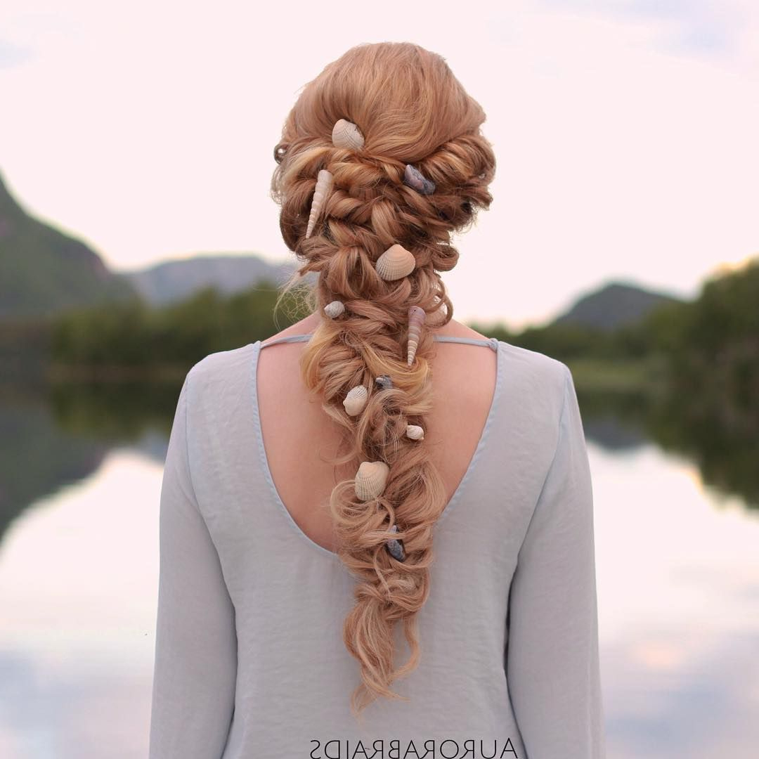 Nothing Says Mermaid Hair Like Long Louse Braids And Shells With Regard To Most Recent Mermaid Fishtail Hairstyles With Hair Flowers (View 10 of 20)