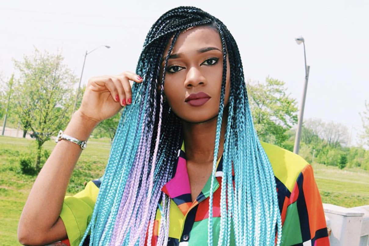 Ombre Braids Like You've Never Seen Them Before – Essence Throughout Preferred Blue And Black Cornrows Braid Hairstyles (View 13 of 20)