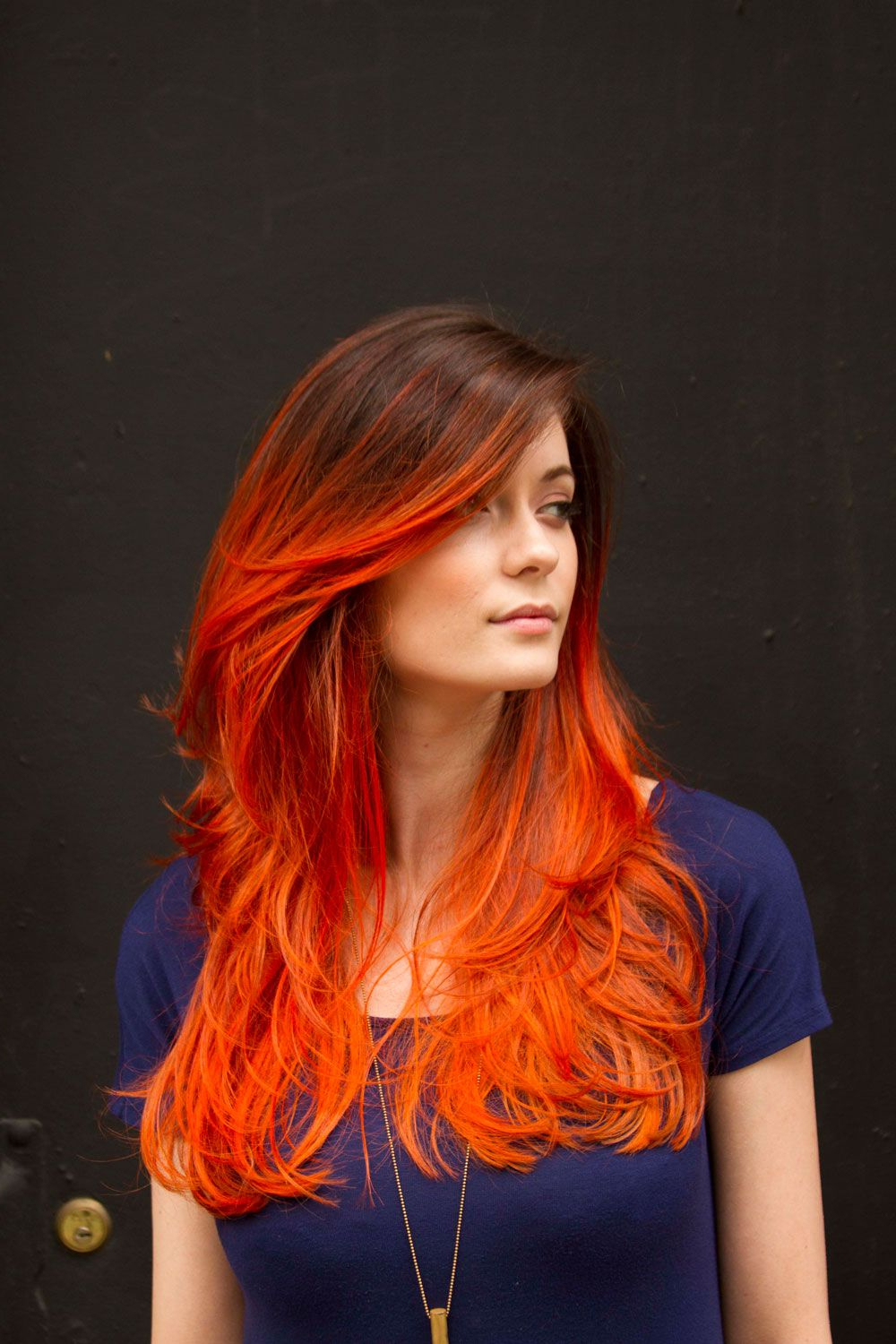 Orange Ombre Hair, Red (View 12 of 20)