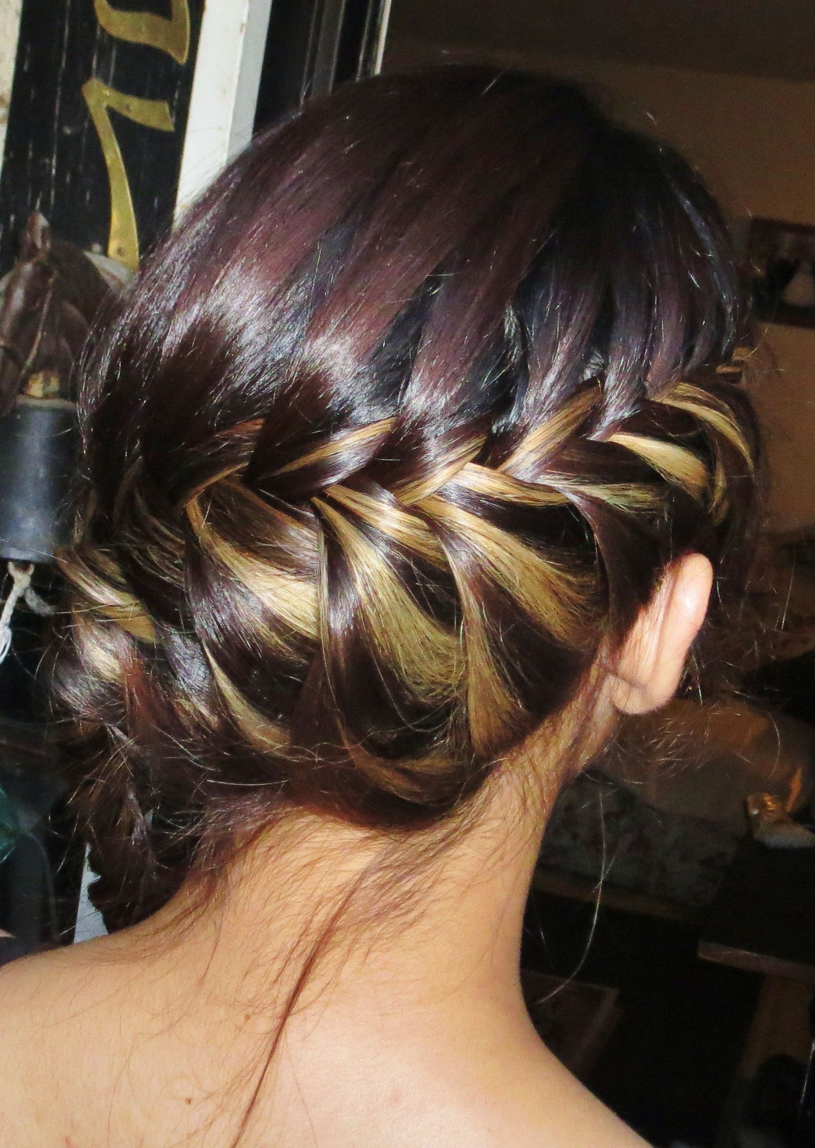 Peekaboo Highlights Fishtail, French Braid (Gallery 15 of 20)